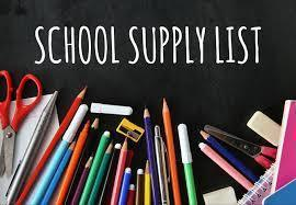 2019-2020 BVISD School Supply List