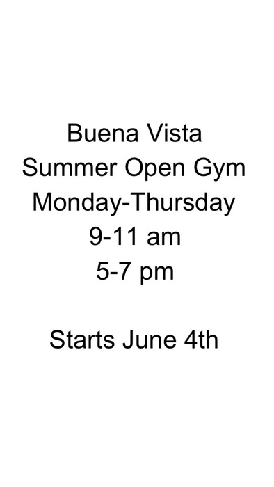Summer Open Gym Hours