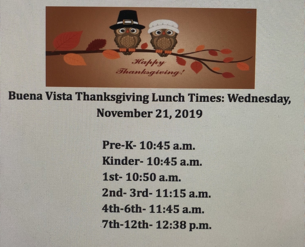 BVISD Community Thanksgiving Lunch Times